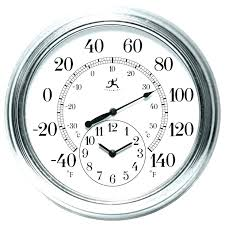 free standing outdoor clocks and thermometers the times seasons thermometer from s combines
