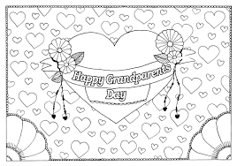 Grandparents Day 5 Gr Parents Day Adult Coloring Pages