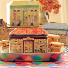 Decorative Cookie Boxes Vintage European Decorative Bakery Tin Box Gift Packing For Cookie 92