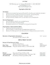 Resume Profile Section Examples Profile Section Of Resume Example