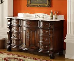 60 inch single sink bathroom vanity 8 drawers medium brown color 60 wx22 dx36 h cgd4437w60