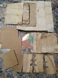 This listing is for the original gritty blank 80 page journal and a super bundle of gritty goodies. Coffee Stain Brown Junk Journal Paper Lot Ebay