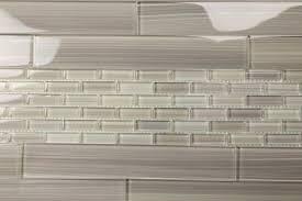 Subway Glass Tiles For Kitchen Light Gray 2x12 Hand Painted Subway Glass Tile Kitchen For