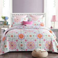 quilted bed covers. Simple Bed CHAUSUB New Quilt Set 3PCS Washed Cotton Quilts Bedspread Quilted Bed Cover  Sheets Pillowcase Printed Coverlet To Covers