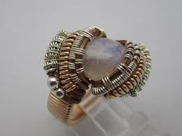 wire wrapped recycled glass pendant. Wire Wrapped Ring \u2013 Moonstone Size 7 Recycled Glass Pendant