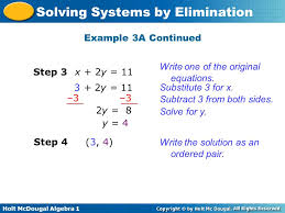 example 3a continued write one of the original equations step 3 x 2y