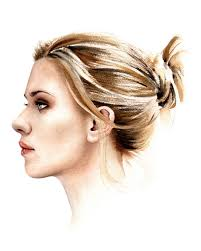 scarlett johansson hollywood actress watercolor painting