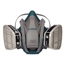 um paint project respirator mask with quick latch case of 4