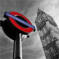 london big ben und underground posters