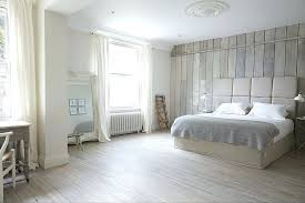 white wash wood wall tranquil bedroom in white uses reclaimed wood all around from west elm whitewashed wood wall art