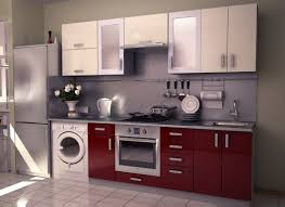 Red Kitchen Floor Amusing Red Kitchen Ideas And Black Doff Cabinet With Grey Floor