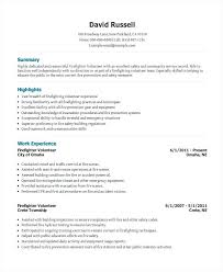 Firefighter Resume Templates Beauteous Firefighter Resume Samples Volunteer Firefighter Resume Firefighter