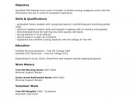 entry level cna resumes