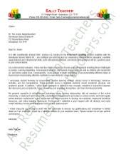 cover letters for teachers preschool teacher cover letter