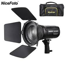 100w Led Video Light Us 398 99 20 Off Nicefoto 100w Bowens Mount Portable Cob Led Video Light With Fresnel Mount Barndoors For Broadcasting Interview Pk Aputure 120d In