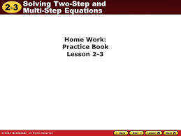 14 home work practice book lesson 2 3