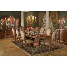 AICO Michael Amini 8pc Cortina Rectangular Dining Room Table Set ...