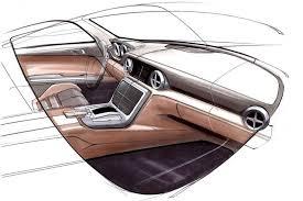 car interior sketch. Plain Car MercedesBenz SLK Interior Design Sketch Intended Car E