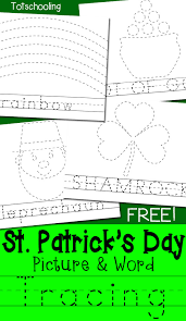 St Patrick's Day Picture & Word Tracing Printables | Totschooling ...
