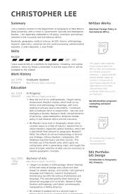 Grad Student Cv A Good Resume Example