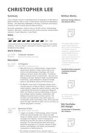 Graduate Student Resume Samples Visualcv Resume Samples Database