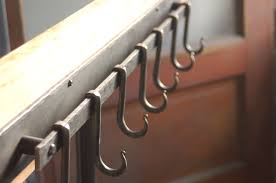 Long Coat Hook Rack 100 Hook Iron Pot Rack Metal Pot Rack Coat Rack Hand Forged 34