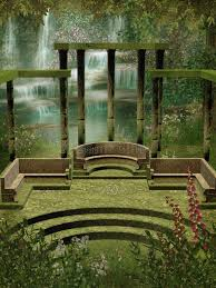garden columns. Download Fantasy Garden With Columns Stock Illustration - Of Vines, Flowers: 11160679 P