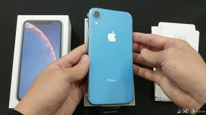 iPhone XR Blue Unboxing in 4K - YouTube
