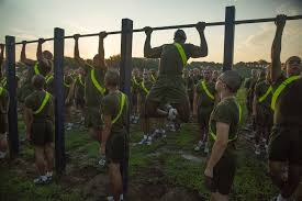 3rd recruit battalion do pullups during an initial strength test june 10 2016 on parris island s c vanessa austin u s marine corps