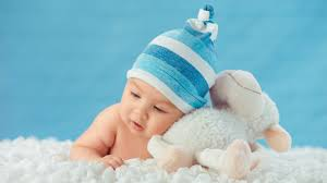 wallpaper wiki a baby boy lying on clouds with sheep toy images pic wpd009693 by billion photos