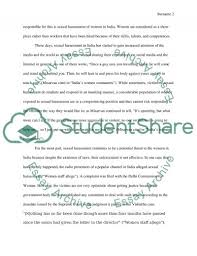 sexual harassment of women in essay example topics and  sexual harassment of women in essay example