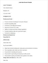 Sales Resume Template Word