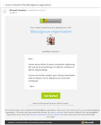 Elements Of The B2b Invitation Email Azure Active