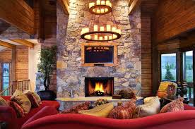 Log Cabin Living Room Concept Cool Design Ideas