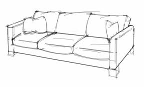 couch drawing side view. id render: how to draw a sofa that looks comfortable | table and couch reference pinterest sketches, drawings sketchbooks drawing side view