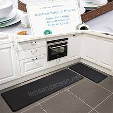 kitchen rugats nonskid nonslip antibacterial tpr bathroom runner rug set easy clean 2 pieces