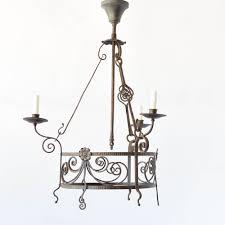 vintage iron arts crafts chandelier