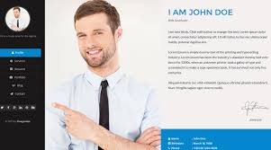 resume webpage