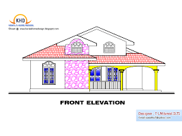 single floor house plan and elevation 1495 sq ft