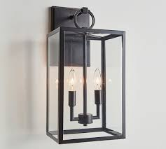 manor glass iron sconce pottery barn