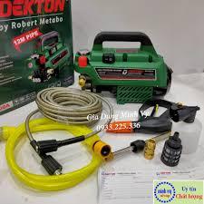 Full phụ kiện] Máy rửa xe chỉnh áp Dekton 2500W-máy rửa máy lạnh- rửa điều  hòa-tặng bình xà phòng và cây nối dài