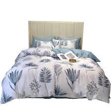 leaf print bed linen sheet bedspread