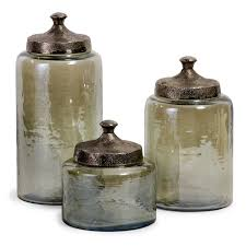 Green Canister Sets Kitchen Imax Worldwide 6971 3 Luster Green Round Decorative Canisters Set