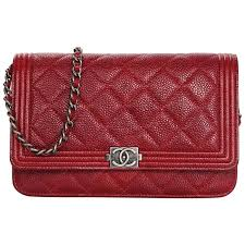 Chanel Red Caviar Leather Quilted Boy WOC Wallet on a Chain ... & Chanel Red Caviar Leather Quilted Boy WOC Wallet on a Chain Crossbody Bag 1 Adamdwight.com