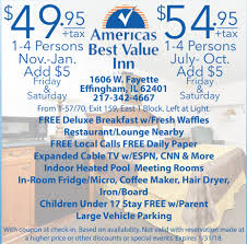 Americas Best Value Inn Springfield Midwest Travel Buddy Illinois Midwest Hotel Coupons