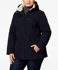 Laundry by Design Plus Size Quilted Hooded Coat Navy 3x #12-57 | eBay & Picture 1 of 2 ... Adamdwight.com