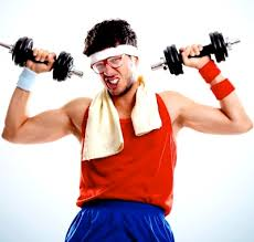 Image result for weak person lifting weights