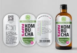 Kombucha Label Design Bold Modern Retail Packaging Design For Pappstea Limited