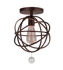 crystorama 9220 eb ceiling solaris 1 light 9 inch english bronze semi flush mount ceiling light in english bronze eb
