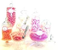 candy buffet jars plastic table large glass